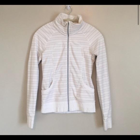 White & gray strip Lululemon jacket. Perfect condi